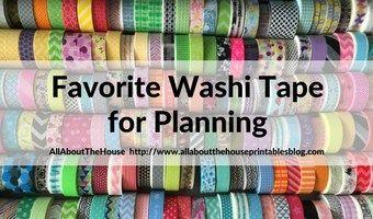 Favorite+washi+tape+for+planning,+planner+decorating+&+color+coding