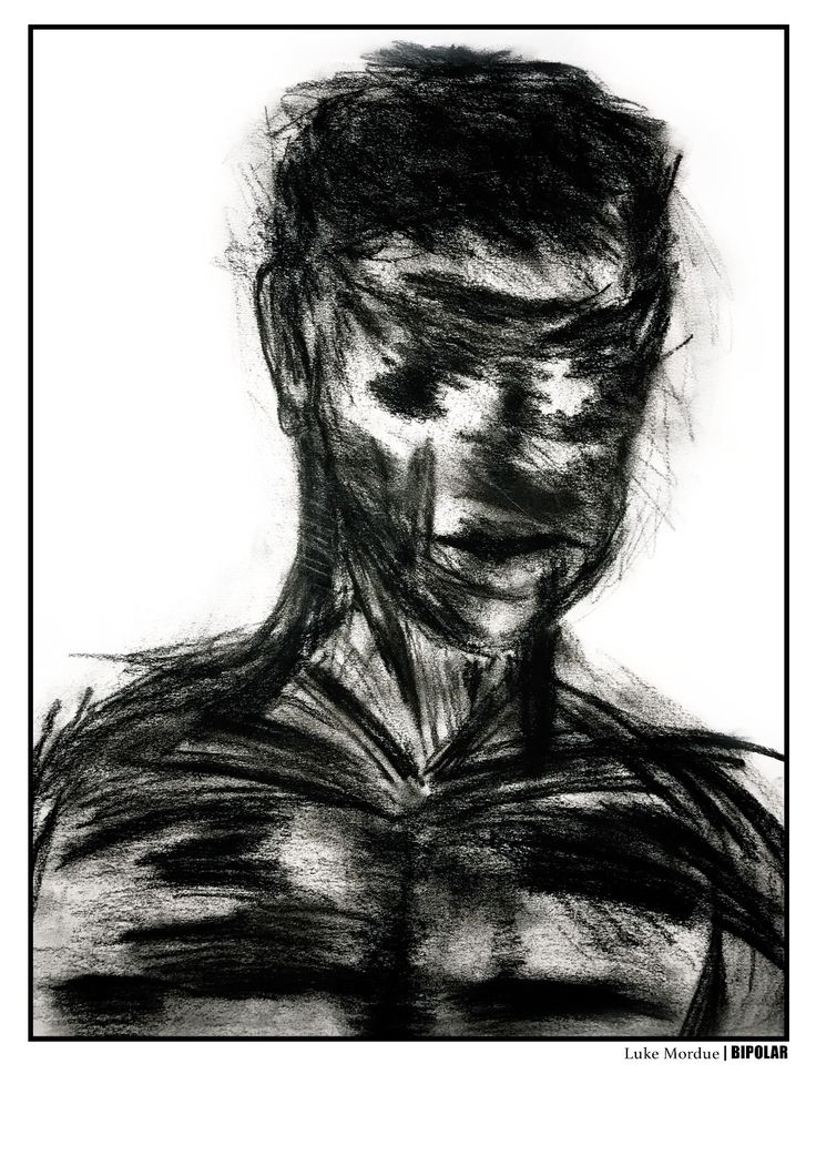 Self portrait of a man with bipolar disorder. Pledge now and be part of our campaign!