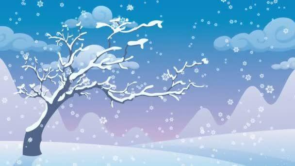 Dibujo animado del paisaje de invierno | Dibujos de invierno, Paisajes de invierno, Invierno