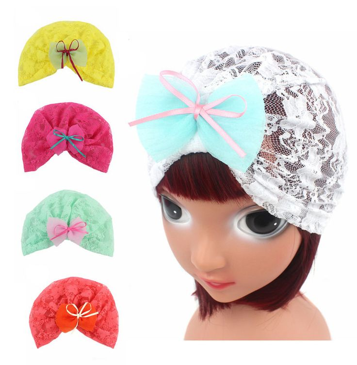 >> Click to Buy << Exclusive sale Kids Lace Breathable Turban Headwear Children Hijab Turbante Hat Bow Photography Turbante Hat #Affiliate