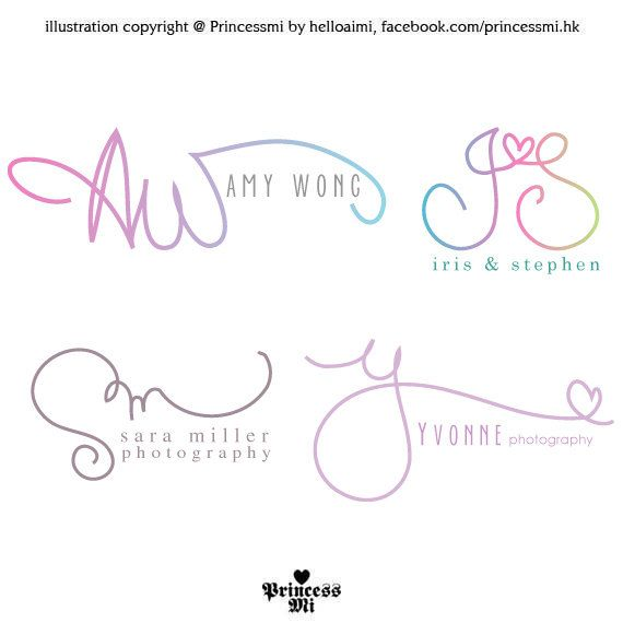 Custom handwritten logo / signature design / initials by helloaimi