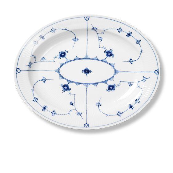 Royal Copenhagen Blue Fluted Plain Oval dish 36,5 cm
