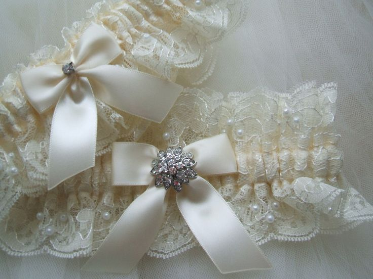 100 best wedding garters images on pinterest bridal for Garter under wedding dress