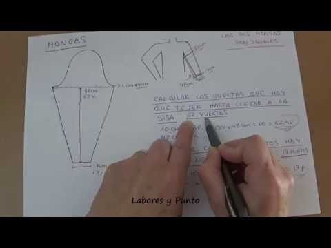 Como calcular medidas y los puntos a poner para tejer una chaqueta en dos agujas - YouTube