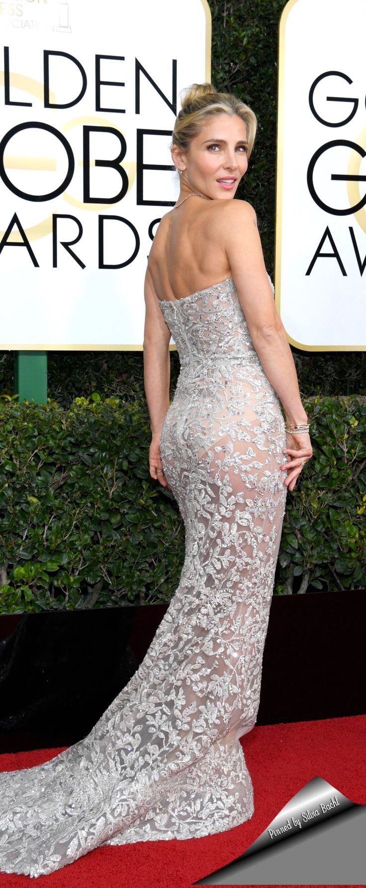Elsa Pataky looks incredible in Zuhair Murad gown at the the 74th Golden Globe Awards Ceremony.