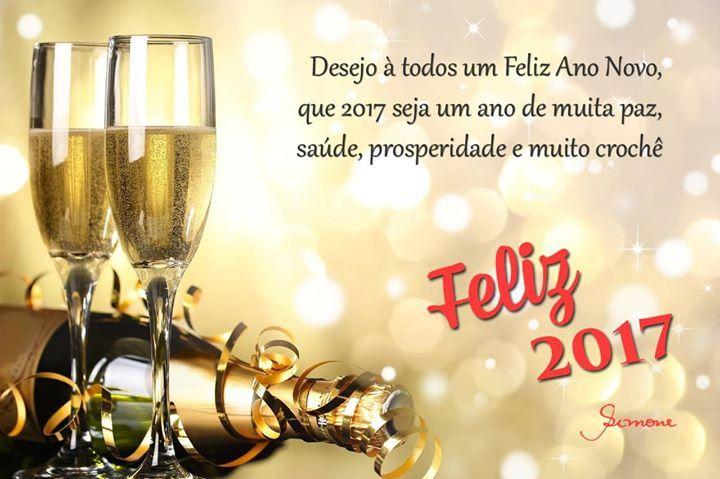 """""""Desejo à todos um Feliz Ano Novo que 2017 seja um ano de muita Paz Saúde Prosperidade e muito crochê"""" #FelizAnoNovo #MuitaPaz #Prosperidade #Saude #Sucesso #professorasimone #semprecirculo"""
