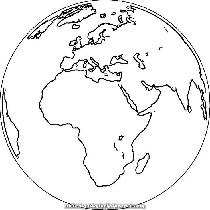 Colouring Page On Earth