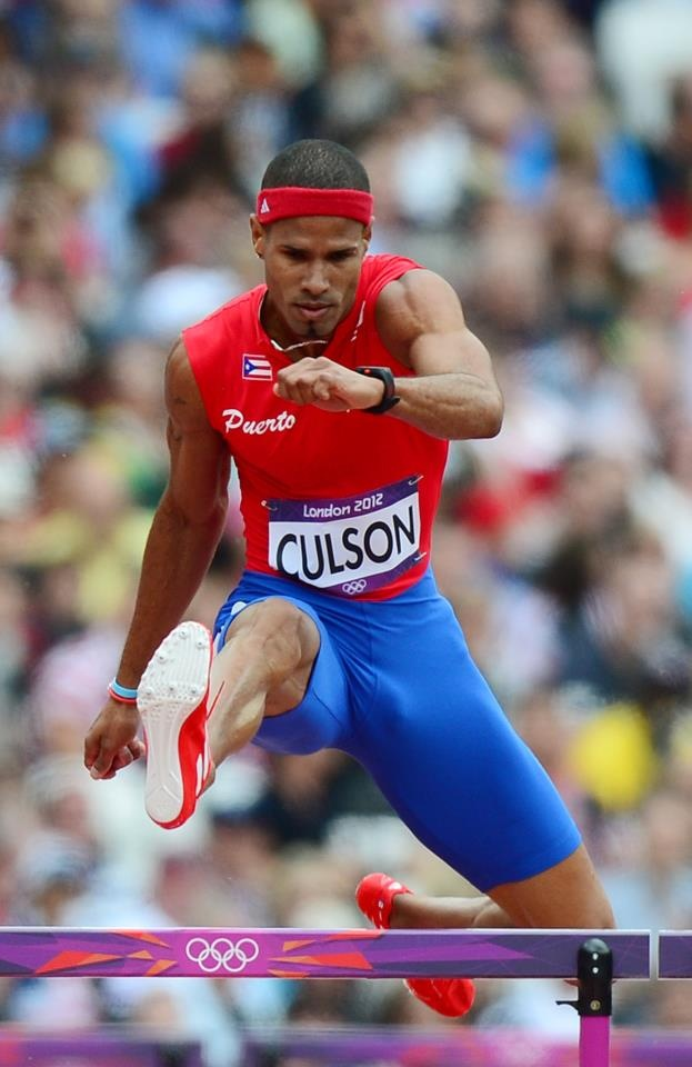 Javier Culson.....400m Hurdler from Puerto Rico. He won a bronze medal in this event at London Olympics. The first person from Puerto Rico to win an Olympic medal in any sport except Boxing.