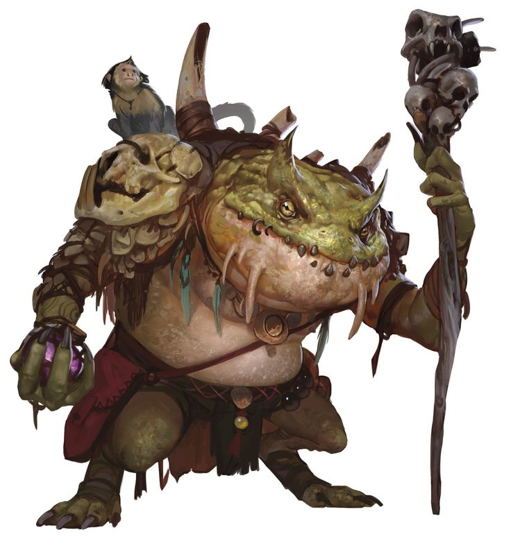 Slaad, Green (from the D&D fifth edition Monster Manual). Art by Conceptopolis.