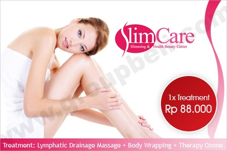 SlimCare Slimming Treatment. Bentuk Tubuh Ideal Dengan Treatment Lymphatic Drainage Massage + Body Wrapping + Therapy Ozone. Hanya Rp 88.000 http://www.groupbeli.com/view.php?id=445