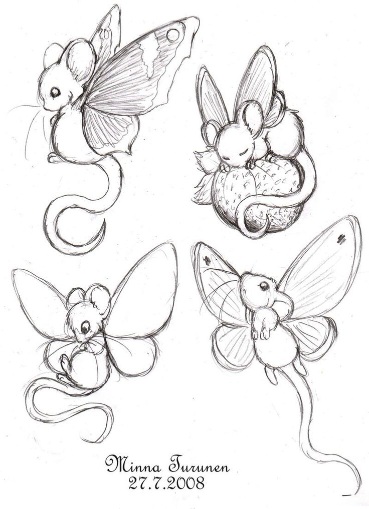Fairy-mouse sketches by Amarathimi