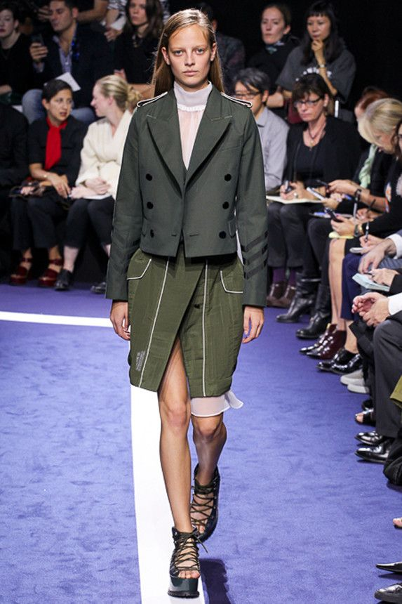 The Sacai Spring 2015 runway show. See more on Vogue.com.