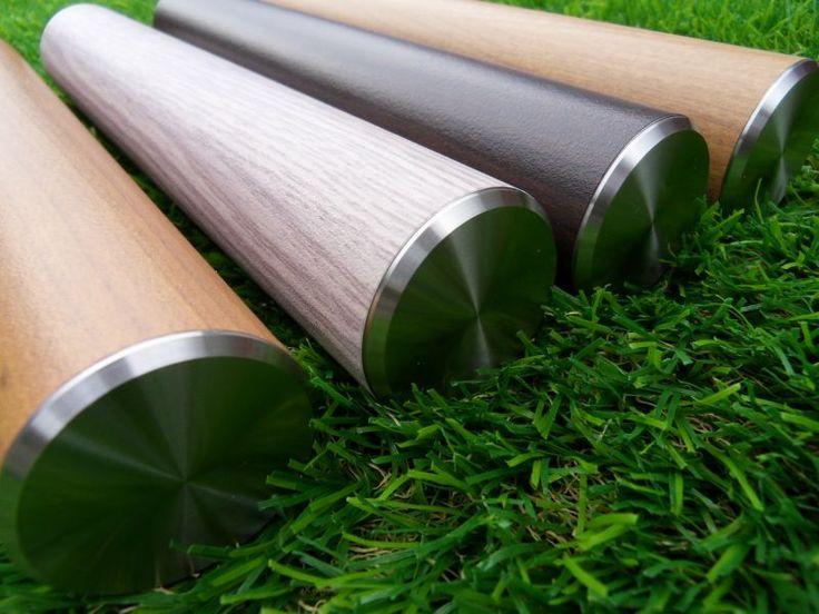 Trapleuningen met LumiWood hout design: Kersen, Wit Eiken, Wengé en Eiken