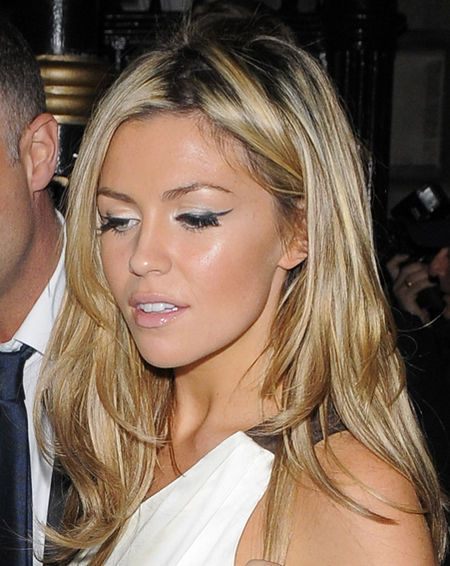 abbey clancy - eyeliner and white shadow