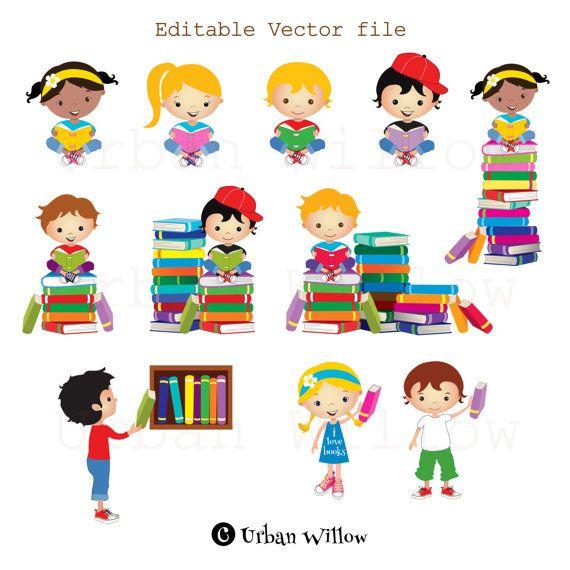 Clip art kids reading books, Graphics school kid, Cute graphics books, Clipart School, Clipart reading, Education graphic, Education Clipart