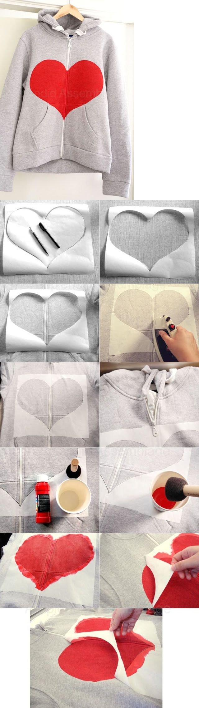 DIY Clothes | Fashionista Pieces like the idea we could do tshirts and different shapes