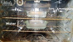 ammonia and water in the dirty oven