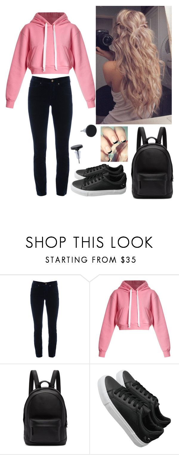 """""""School day"""" by paoladouka on Polyvore featuring Cambio, Natasha Zinko, PB 0110, Pink, black and everyday"""