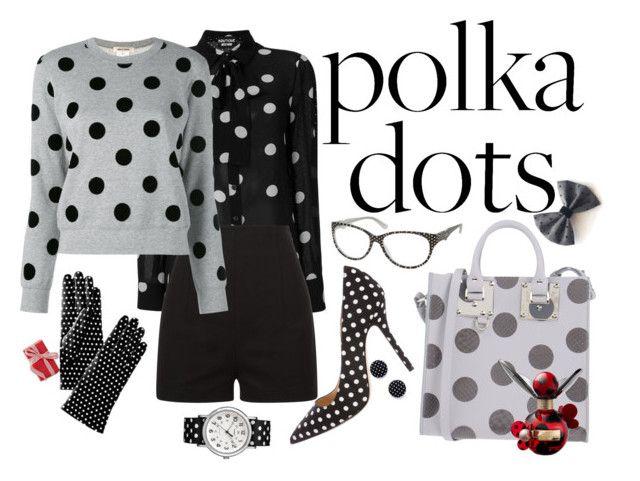 """Completely Dotty"" by lily-mitchell on Polyvore featuring Boutique Moschino, La Perla, Oscar de la Renta, Sophie Hulme, Moschino, Mark & Graham, Timex, Marc Jacobs and PolkaDots"
