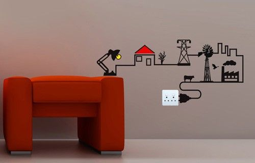 Electricity chain vinyl wall sticker from Fantastick Wall Décor (South Africa)  #electricity #southafrica