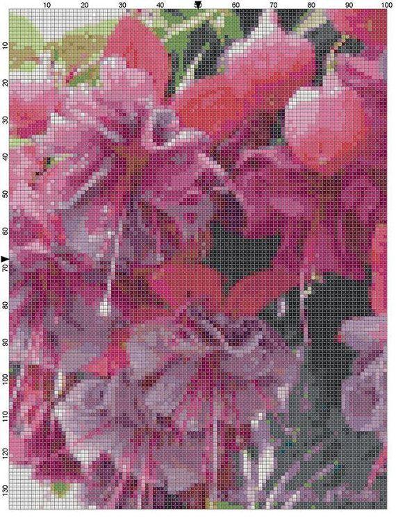 Cross Stitch Pattern Lavender and Pink by theelegantstitchery