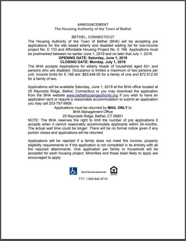 06 02 19 Connecticut Housing Announcement Connecticut Affordable Housing