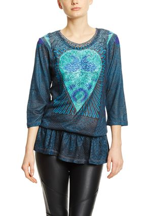 On ideel: CUSTO BARCELONA Three-Quarter Sleeve Top