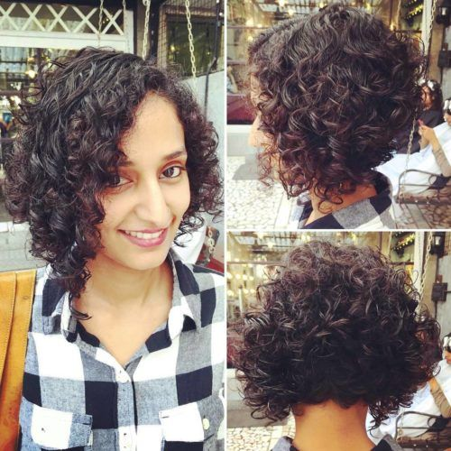 Curly Indian Bob Haircut Short Curly Hairstyles For Women Hair Styles Short Curly Hair