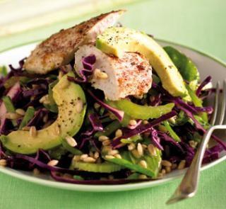 Hearty chicken and avocado salad recipe | Australian Healthy Food Guide