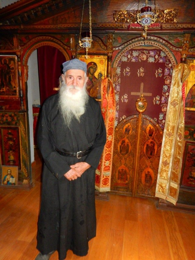 Dimitriou Skete, Mount Athos, Greece.  Father Nectarios in front of the iconostasis +++Κύριε Ἰησοῦ Χριστέ, Υἱὲ τοῦ Θεοῦ, ἐλέησόν με + + + The Eastern Orthodox Facebook: https://www.facebook.com/TheEasternOrthodox Pinterest The Eastern Orthodox: http://www.pinterest.com/easternorthodox/ Pinterest The Eastern Orthodox Saints: http://www.pinterest.com/easternorthodo2/