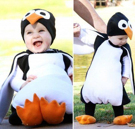 disfraz de pingino casero para beb halloween