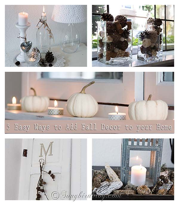 5 easy ways to add fall decor to your home new babies the white and corks - Creative decoration ideas for home without ripping you off ...