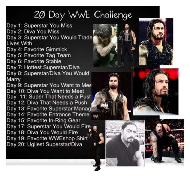 """""""20 Day WWE Challenge Day 7: Roman Regins"""" by wwedivaschannel ❤ liked on Polyvore featuring art"""