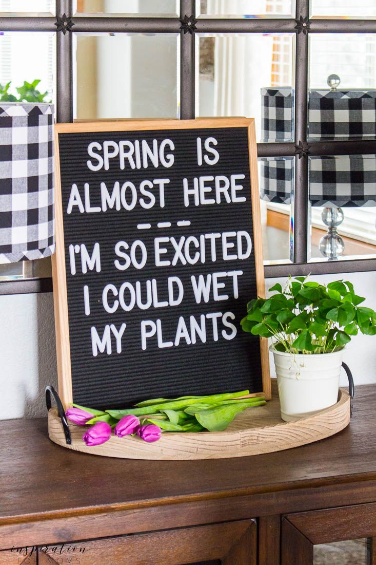 Beautiful Kitchen And Dining Room Spring Tour Message Board Quotes Chalkboard Art Quotes Work Quotes Funny