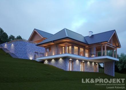 Projekty domów LK Projekt LK&1204 zdjęcie wiodące
