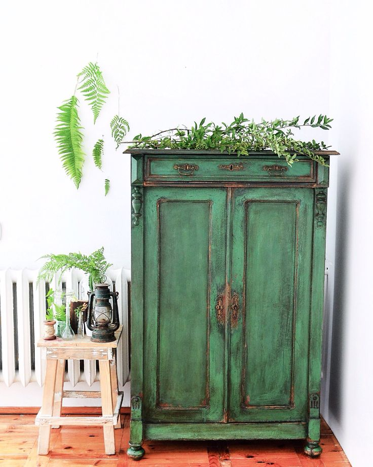 green chiffonier - french antique - one of a kind - emerald green - chippy look - patina - texture - aged look - rustic chippy - dresser - forestry chiffonier - new life - design furniture - Annie Sloan chalk paint - redesignbyagnieszka