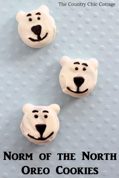 Norm of the North cookies - a super simple cookie made with Oreos and M