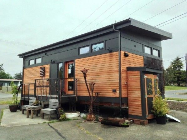 Waterhaus Prefab Tiny Home designed by GreenPod Development and built by  Sprout Tiny Homes.