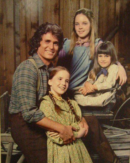 Pa and his girls (Little House on the Prairie)