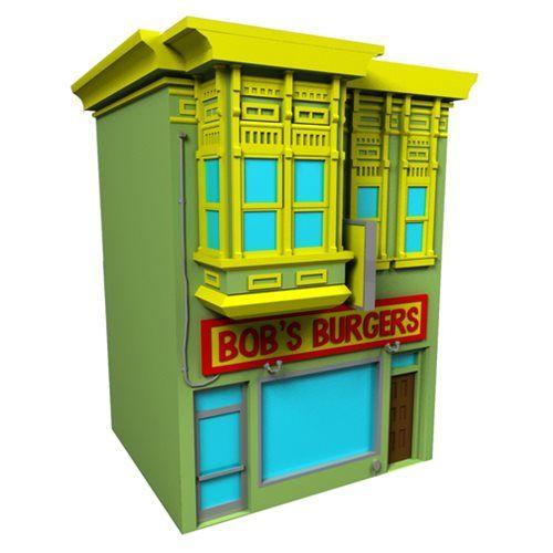 Bob's Burgers Building Coin Bank   Agora você pode investir em hambúrgueres sem o seu outro pensamento importante você perdeu sua mente.O Bob's Burgers Building Coin Bank pode armazenar todo o seu saque e você não se preocupa com os perigos da carne vermelha. Money Bank