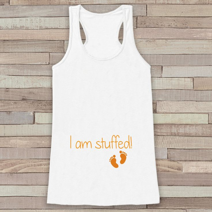 This fun tank top is the perfect way to announce your pregnancy! Tank is a soft…