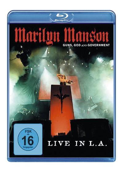 """""""Guns, God And Government - Live in L.A."""" è stato registrato durante l'ultimo concerto del tour mondiale di #MarilynManson. Questo disco Blu-Ray contiene materiale inedito in formato HD registrato durante la tappa di L.A.. Una serata incredibile, i costumi, le luci e la presenza carismatica di Marilyn Manson fanno di questo Blu-Ray un'esperienza unica."""