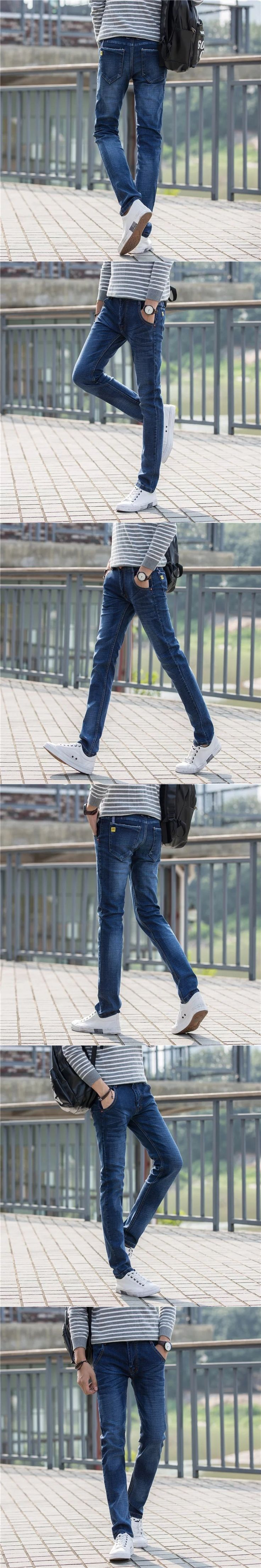 Spring and autumn male new jeans  mens jeans Fashion Brand Mens Skinny Jeans  Classical design YF009