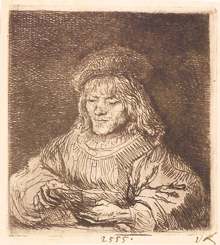 """Jucătorul de cărți, 1641, semnătura şi data ilizibile (Fondul întunecat adăugat ulterior). Imagine din colecțiile Bibliotecii """"V.A. Urechia"""" Galați."""