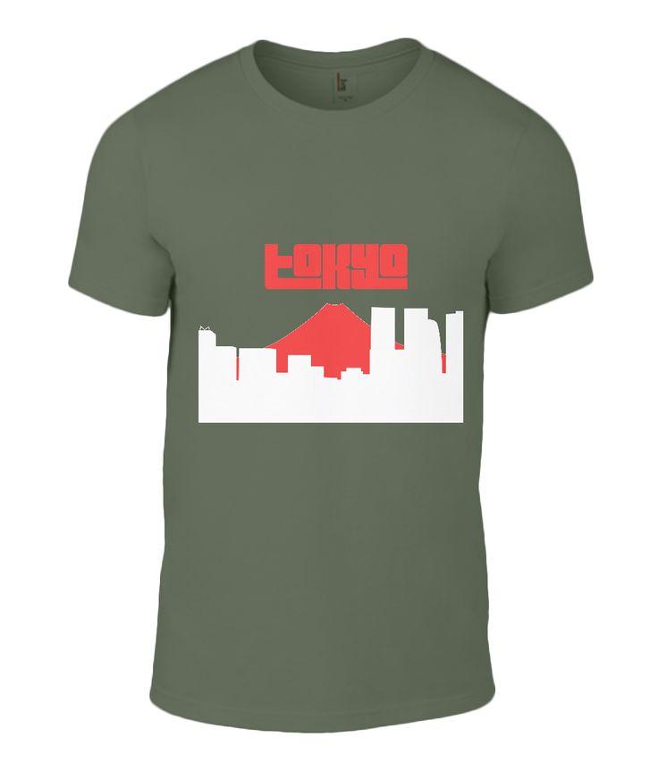 Tokyo and Fuji t-shirt