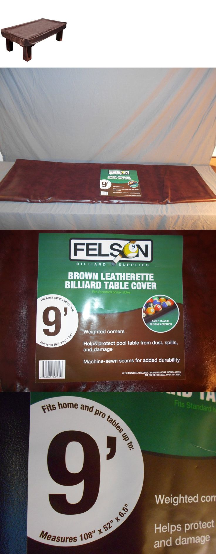 Table Covers 91569: Felson 9 Foot Brown Heavy Leather Billiard Pool Table Cover Protects (Open Box) -> BUY IT NOW ONLY: $56.99 on eBay!