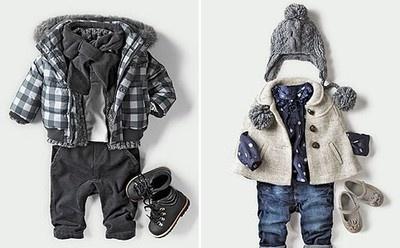 awwwww! stylish baby clothes!