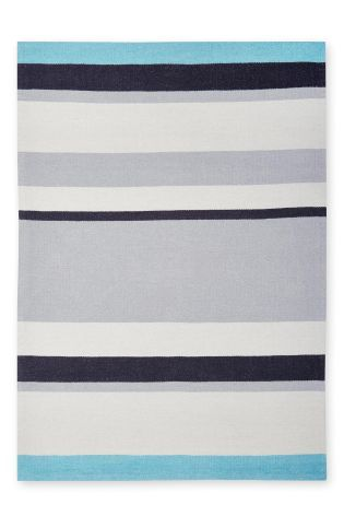 Buy Mono Stripe Flat Weave Rug from the Next UK online shop