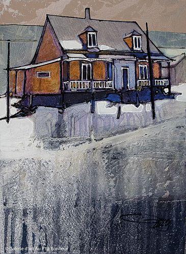 Jean-Pierre Guay, '3 février', 11'' x 15'' | Galerie d'art - Au P'tit Bonheur - Art Gallery