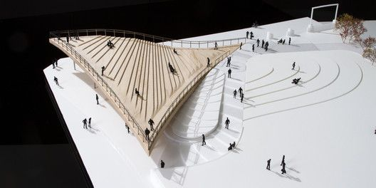 BIG Designs Pier 6 Viewing Platform for Brooklyn's Waterfront,Model. Image Courtesy of BIG
